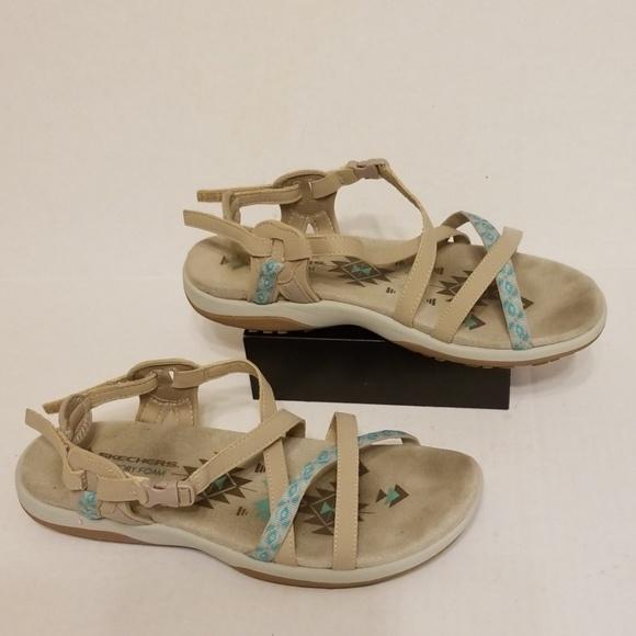 Foam 10 Women's Skechers Sandals Memory Size Nwvm80ynO